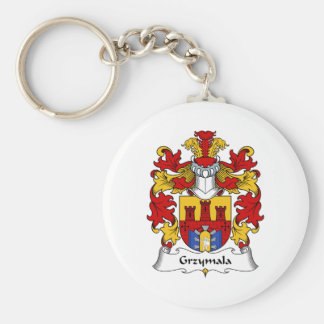 Escudo de la familia de Grzymala Llavero Redondo Tipo Pin