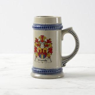 Escudo de la familia de Grzymala Tazas De Café