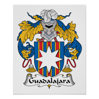 Escudo de la familia de Guadalajara Póster