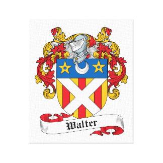 Escudo de la familia de Gualterio Impresión En Lona