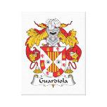 Escudo de la familia de Guardiola Lona Estirada Galerías