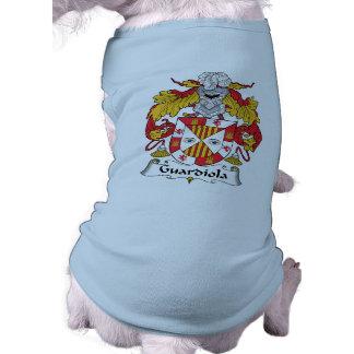 Escudo de la familia de Guardiola Playera Sin Mangas Para Perro