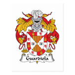 Escudo de la familia de Guardiola Tarjeta Postal