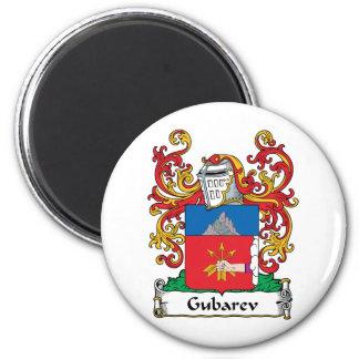 Escudo de la familia de Gubarev Imán Redondo 5 Cm