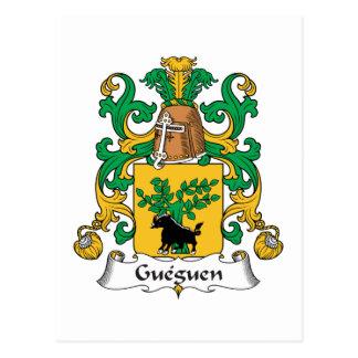 Escudo de la familia de Gueguen Postales