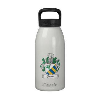 Escudo de la familia de Guerra Botellas De Beber