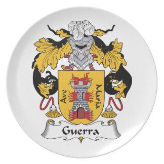 Escudo de la familia de Guerra Plato Para Fiesta