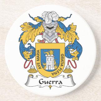 Escudo de la familia de Guerra Posavasos Personalizados