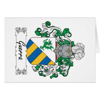 Escudo de la familia de Guerra Felicitación