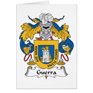 Escudo de la familia de Guerra Tarjeta