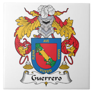 Escudo de la familia de Guerrero Azulejo