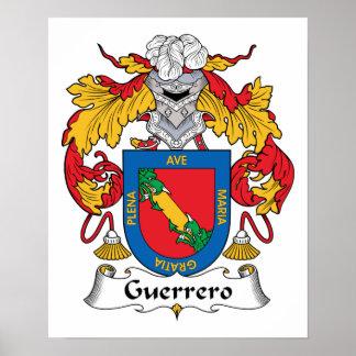Escudo de la familia de Guerrero Impresiones