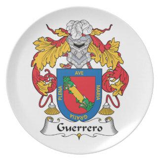 Escudo de la familia de Guerrero Platos De Comidas