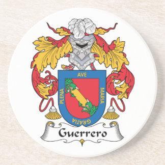 Escudo de la familia de Guerrero Posavasos Para Bebidas