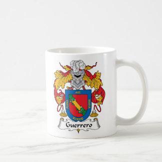 Escudo de la familia de Guerrero Tazas De Café