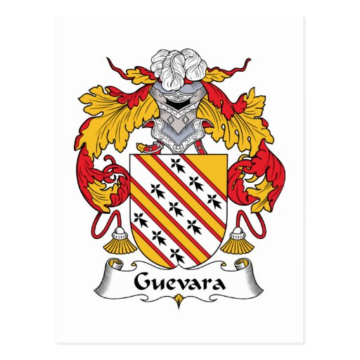 Escudo de la familia de Guevara Tarjeta Postal