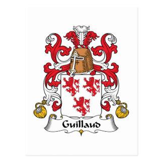 Escudo de la familia de Guillaud Tarjetas Postales