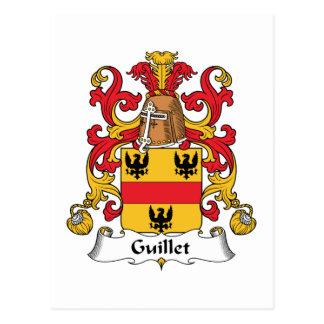 Escudo de la familia de Guillet Tarjetas Postales