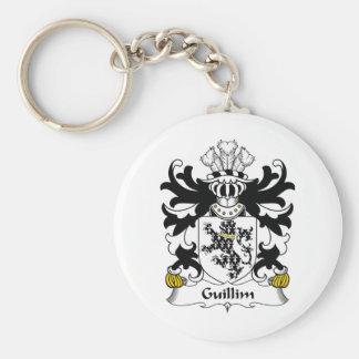 Escudo de la familia de Guillim Llavero Redondo Tipo Pin