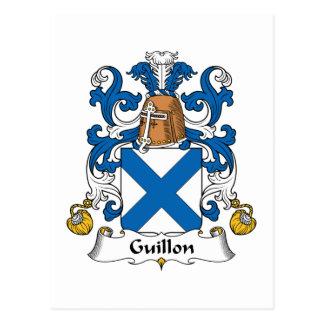 Escudo de la familia de Guillon Postales