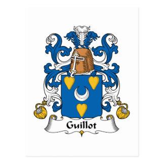 Escudo de la familia de Guillot Tarjeta Postal