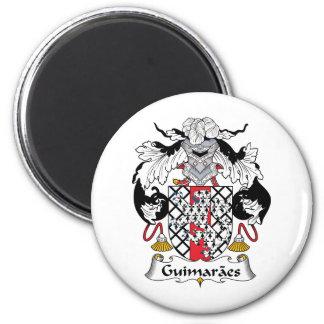 Escudo de la familia de Guimaraes Imán Redondo 5 Cm