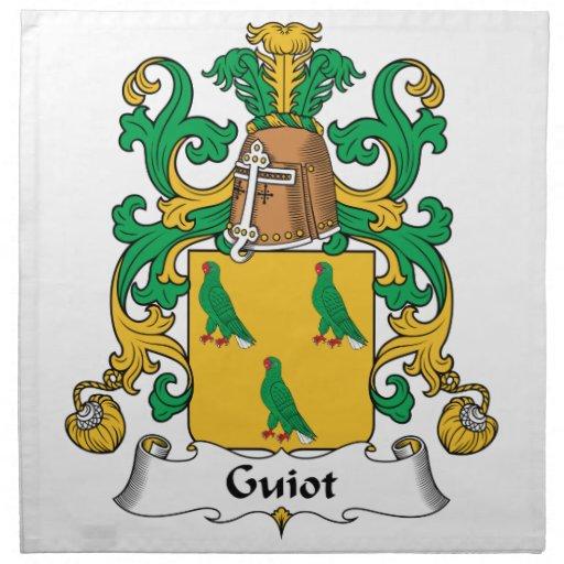 Escudo de la familia de Guiot Servilletas Imprimidas