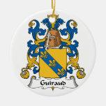 Escudo de la familia de Guiraud Ornamento De Navidad