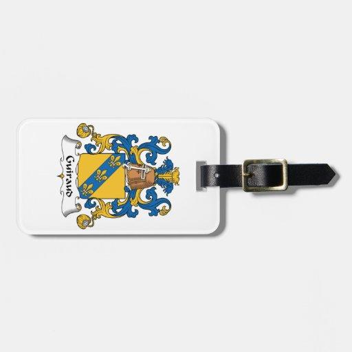 Escudo de la familia de Guiraud Etiquetas De Maletas