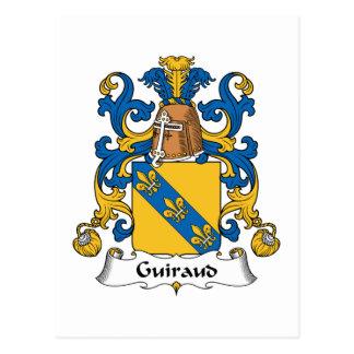 Escudo de la familia de Guiraud Tarjetas Postales