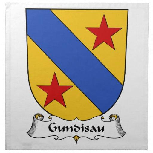 Escudo de la familia de Gundisau Servilleta De Papel