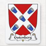 Escudo de la familia de Gutenberg Tapetes De Raton