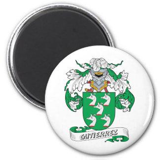 Escudo de la familia de Gutiérrez Imán Redondo 5 Cm