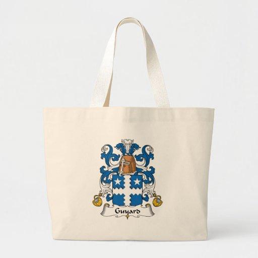 Escudo de la familia de Guyard Bolsa Tela Grande