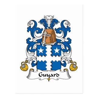 Escudo de la familia de Guyard Postal