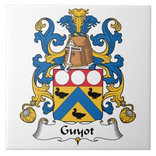 Escudo de la familia de Guyot Azulejo Cuadrado Grande