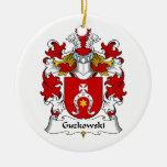 Escudo de la familia de Guzkowski Adornos De Navidad