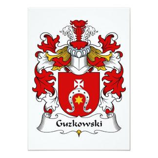 Escudo de la familia de Guzkowski Invitación 12,7 X 17,8 Cm