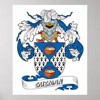 Escudo de la familia de Guzman Póster