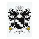 Escudo de la familia de Gwair Invitación 12,7 X 17,8 Cm