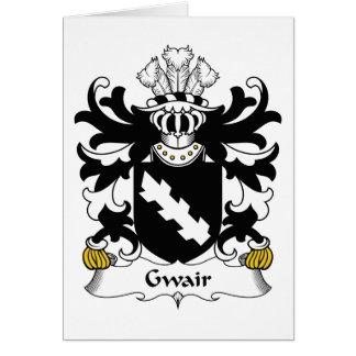 Escudo de la familia de Gwair Tarjeta De Felicitación