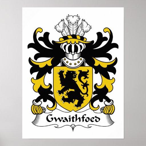 Escudo de la familia de Gwaithfoed Póster