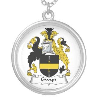 Escudo de la familia de Gwyn Colgante Redondo
