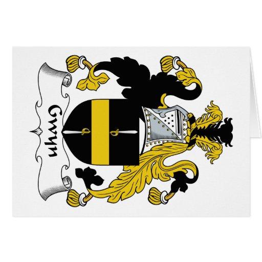 Escudo de la familia de Gwyn Tarjeta De Felicitación