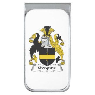 Escudo de la familia de Gwynne Clip Para Billetes Plateado