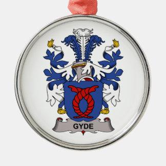 Escudo de la familia de Gyde Adorno Redondo Plateado