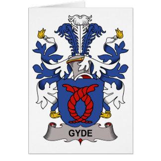 Escudo de la familia de Gyde Tarjeta De Felicitación