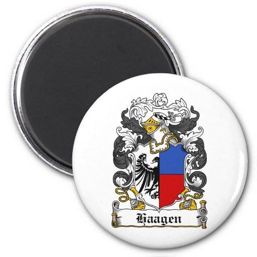 Escudo de la familia de Haagen Imán Para Frigorífico