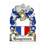 Escudo de la familia de Haagensen Tarjetas Postales