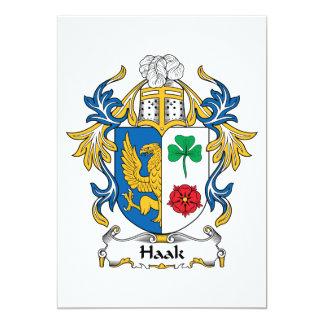 """Escudo de la familia de Haak Invitación 5"""" X 7"""""""